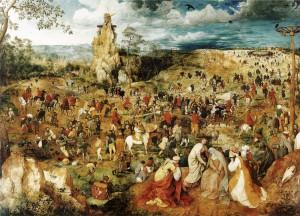 Pieter Brueghel st. - Procesí na Kalvárii (1564)